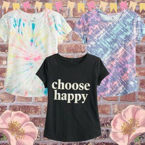 Girls Small Short Sleeve T-Shirt Bundle Tie Dyed